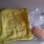 Cotton Soft Wash Cloth in Lemon wit..