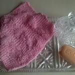 Pink Baby Hearts Cotton Wash Cloth ..