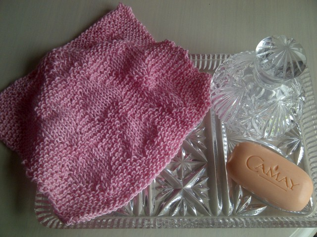 Pink Baby Hearts Cotton Wash Cloth - Great Gift for a Little Girl