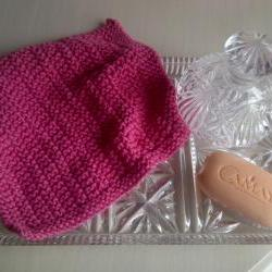 Pink Face/Wash Cloth or Dishcloth - 100% cotton