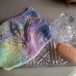 Pastel Multi Tulip Design Cotton Wash Cloth - Excellent for Gentle Exfoliation